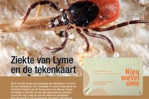 Tekenkaart Nederland in magazine Mooi Veluwe