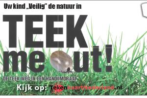 Tekenkaart Nederland - kinder veilig de natuur in